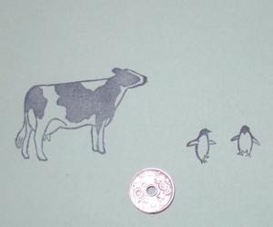 牛とペンギン